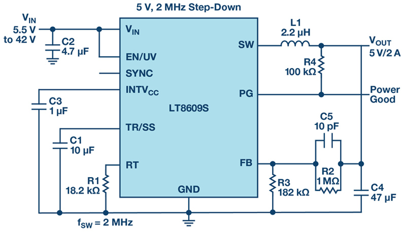 42 V, 2 A/3 A Peak Synchronous Step-Down Regulators with 2.5 µA Quiescent Current and Ultralow EMI Emission