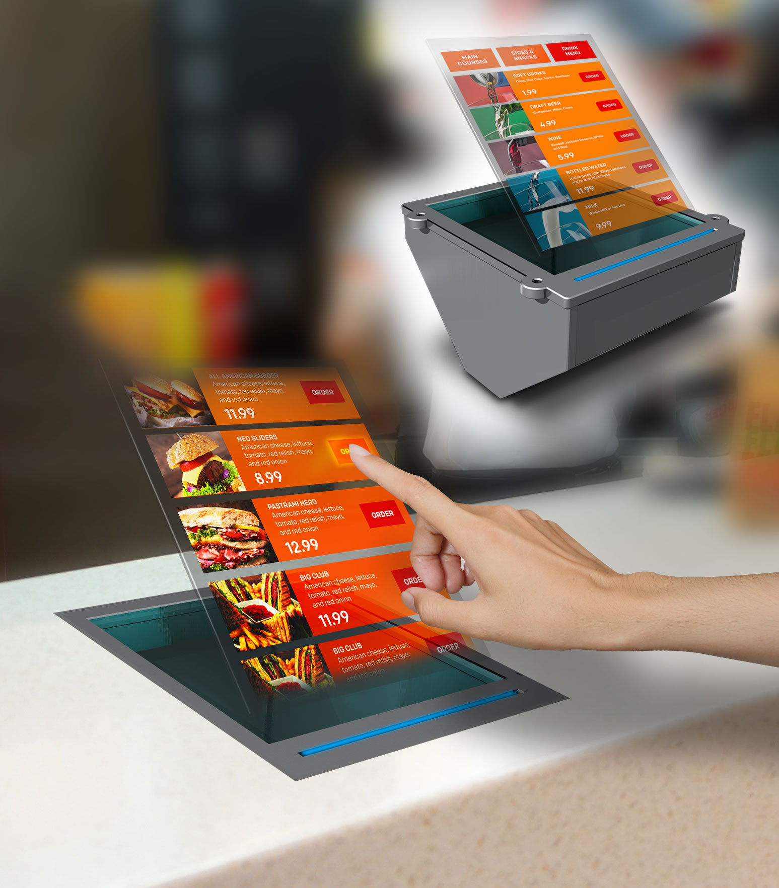 Contactless-Touch Holo Products for Germ-free Interaction