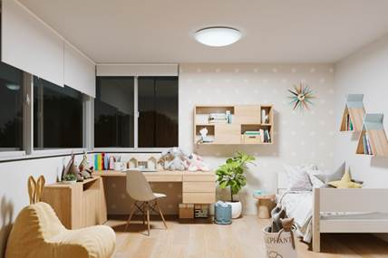 Natural Spectrum LEDs Adopted for Children's Room Lighting