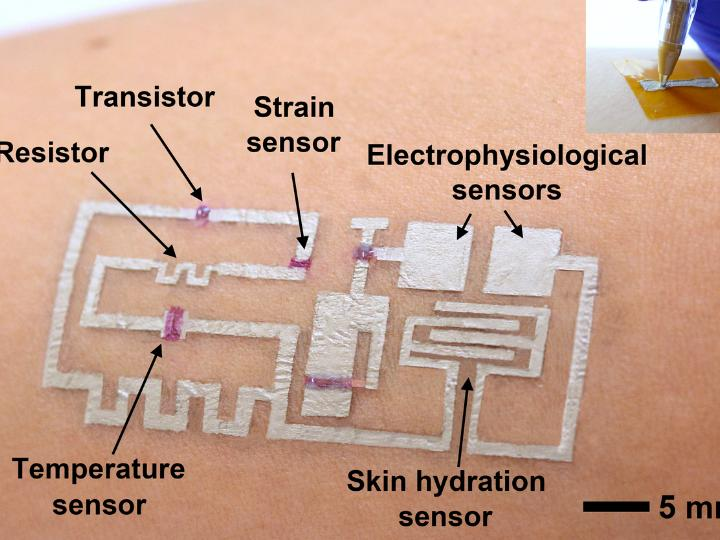 'Drawn-on-Skin' Electronics for Wearable Monitor Breakthrough