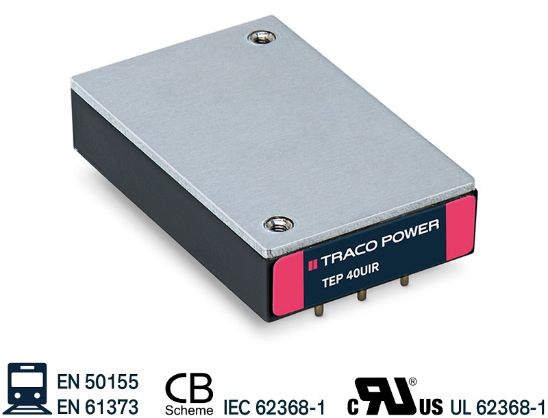 40 and 60 W railway-approved DC/DC converters