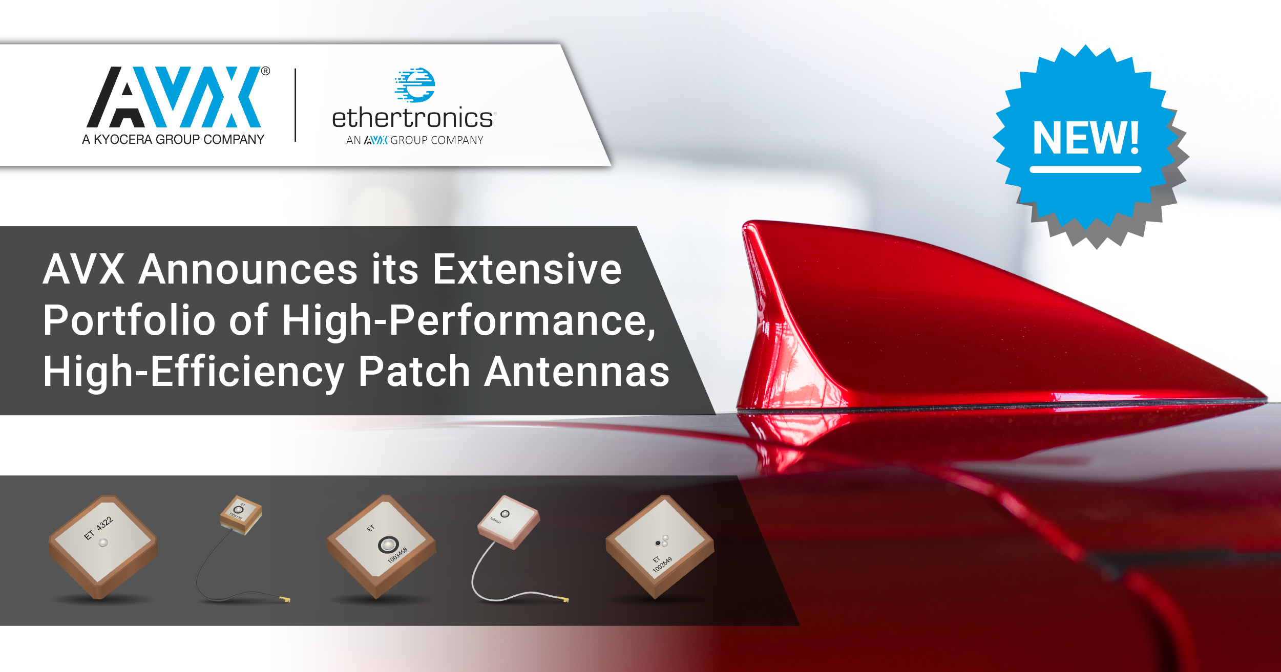 AVX/Ethertronics' High-Efficiency Patch Antenna Portfolio