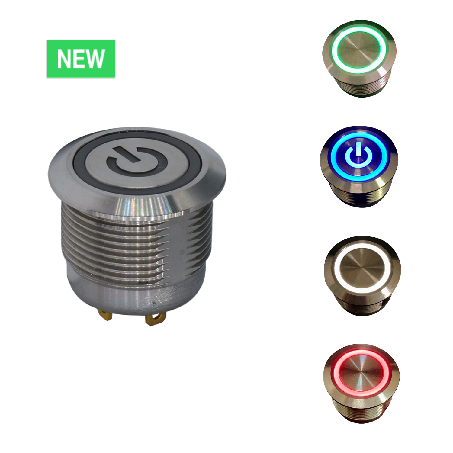 Anti-vandal Pushbutton Features up to 40% Space-Savings