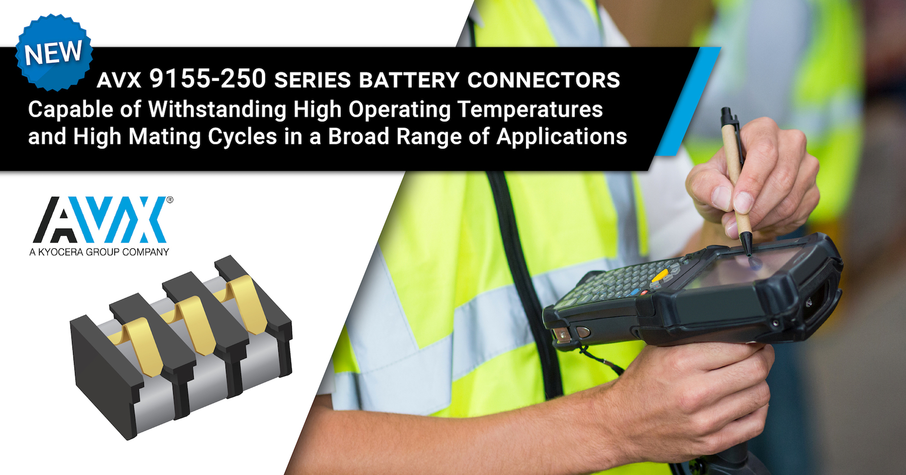 AVX Expands its Range of Board-to-Board Battery Connectors