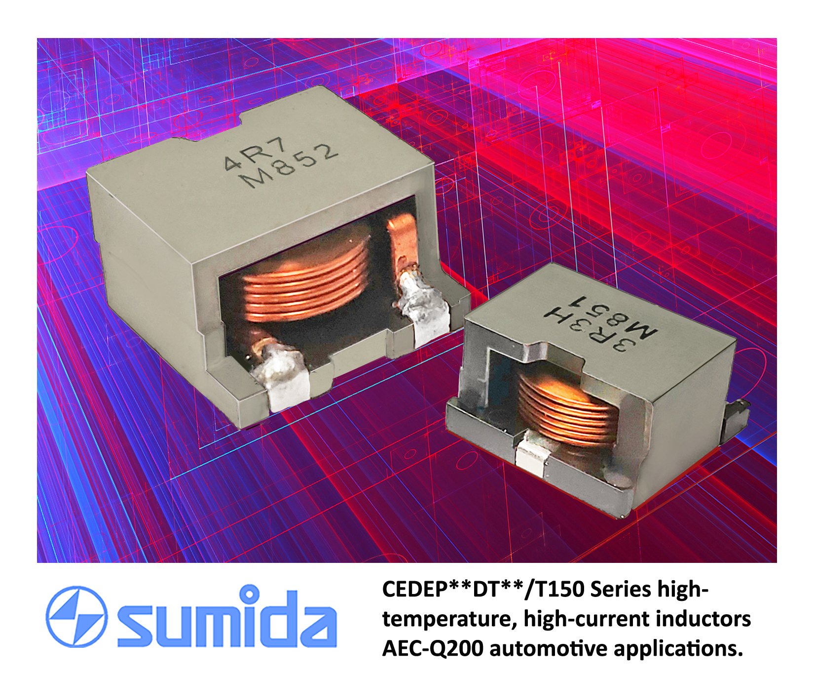 SMD Power Inductors Handle High Temp and Current