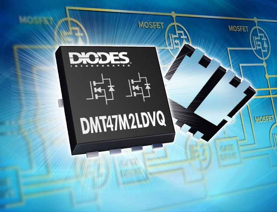 First Auto-Compliant 40V Dual MOSFET in 3.3mm x 3.3mm Package