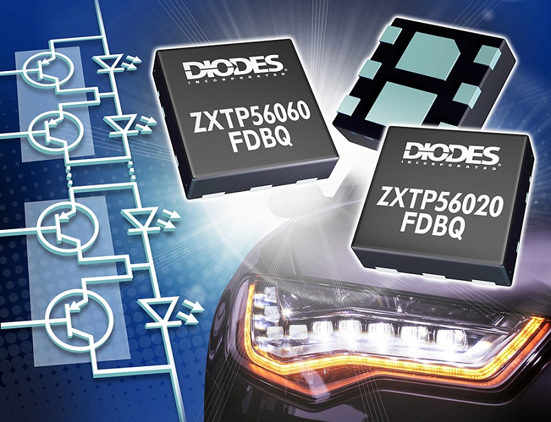 Diodes optimizes PNP transistors for automotive LED lighting