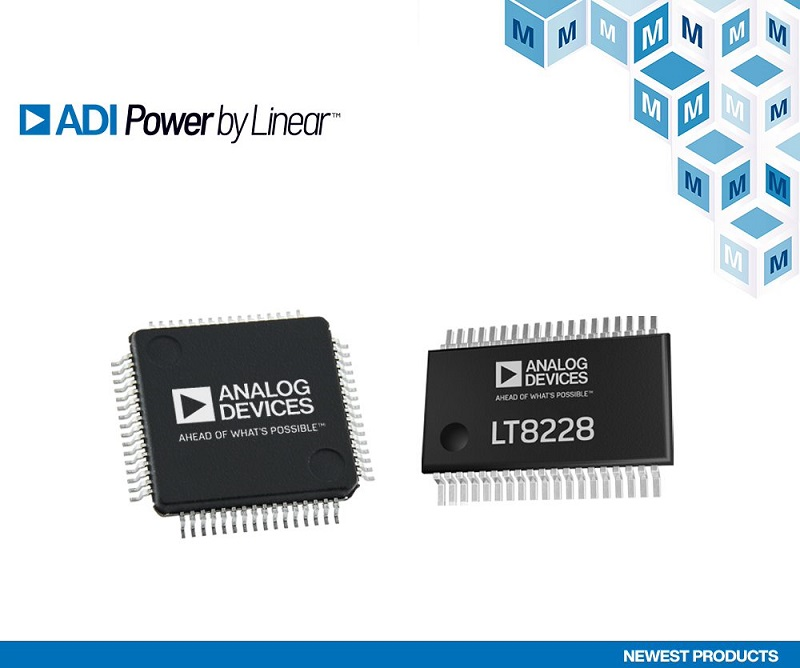 ADI LT8228 & LTC7871 buck/boost controllers, now at Mouser