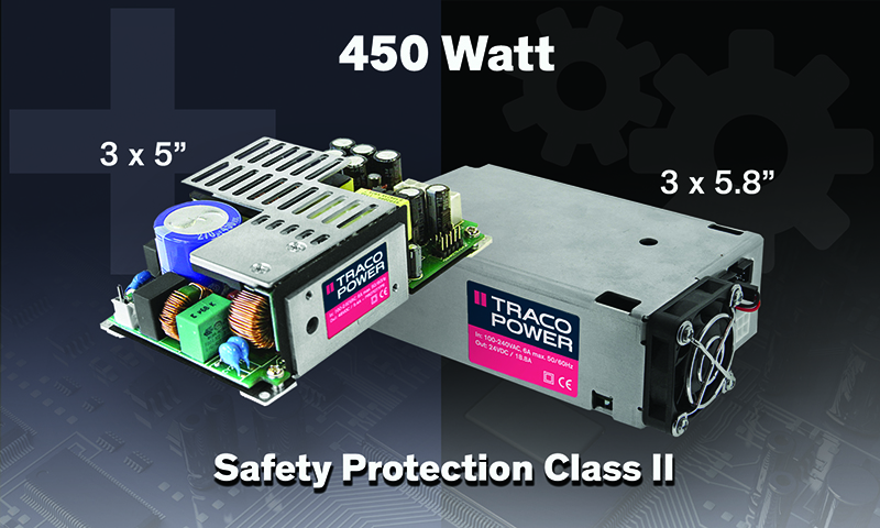 3x5'' Power Supply Offering Safety Protection Class II
