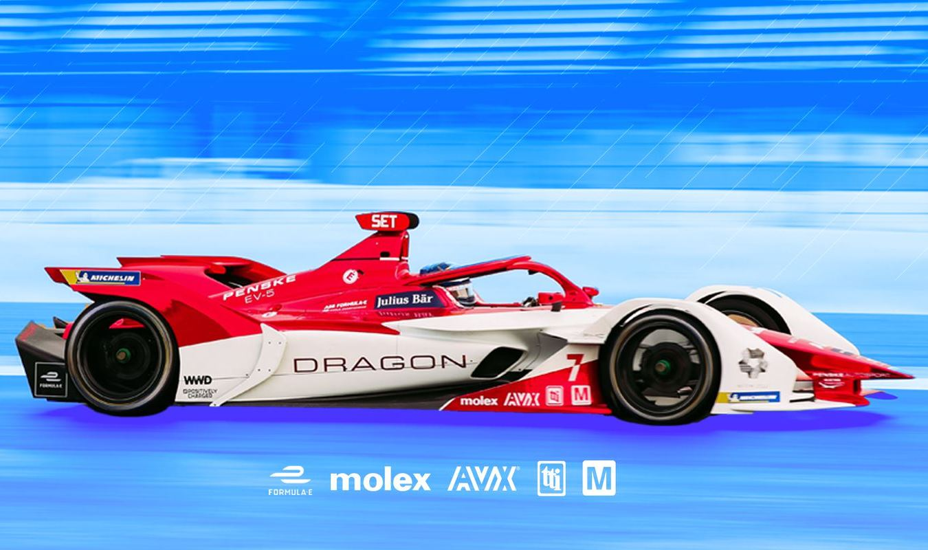 Mouser Partners w/ DRAGON / PENSKE AUTOSPORT Formula E Racing