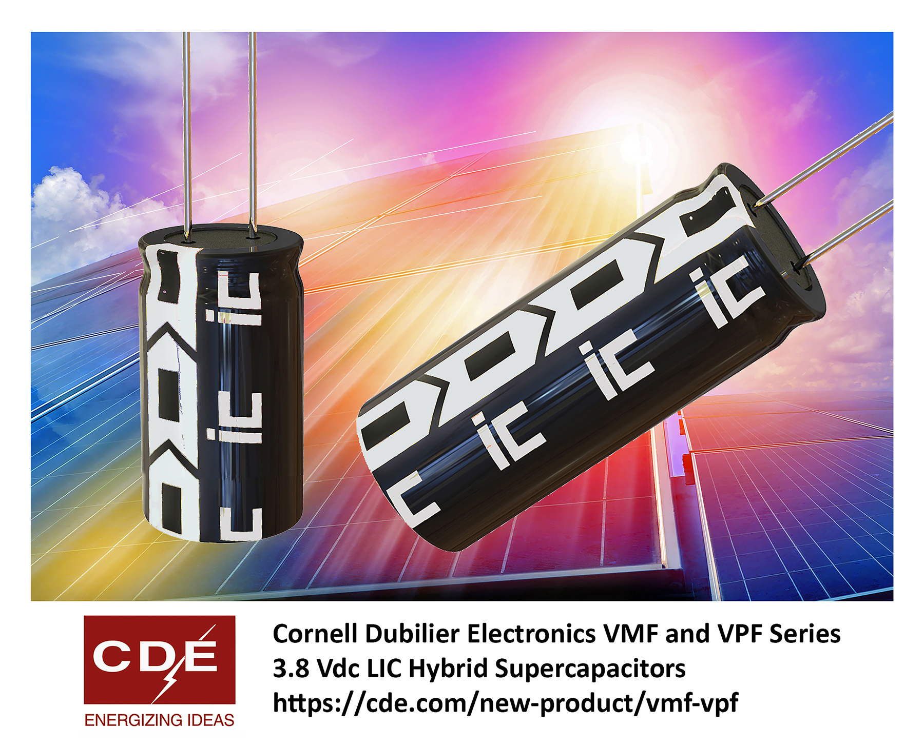 Hybrid Supercapacitors Deliver up to 220 Farads at 3.8 V