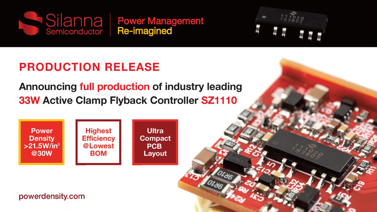 Expanded Portfolio of Active Clamp Flyback Controllers