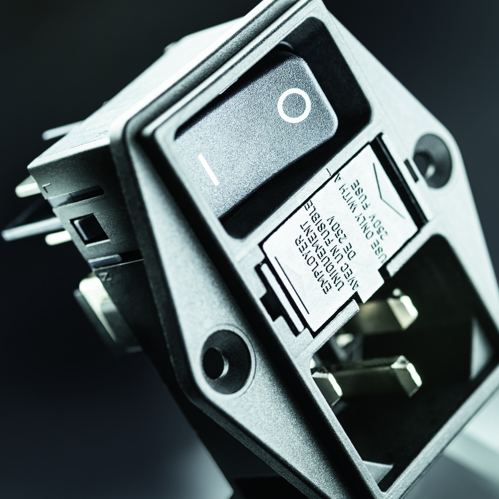 Compact Power Entry Module Includes Side Flange Mounting