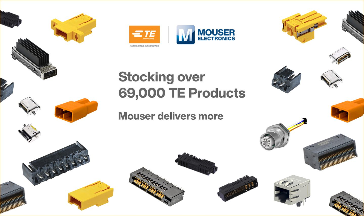 Mouser Electronics' Portfolio of TE Connectivity Solutions